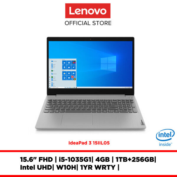 Lenovo Notebook Laptop IdeaPad 3 15IIL05 Platinum Grey 81WE001CMJ 15.6FHD/i5/4GB/integrated/W10H/1YRWRTY Malaysia
