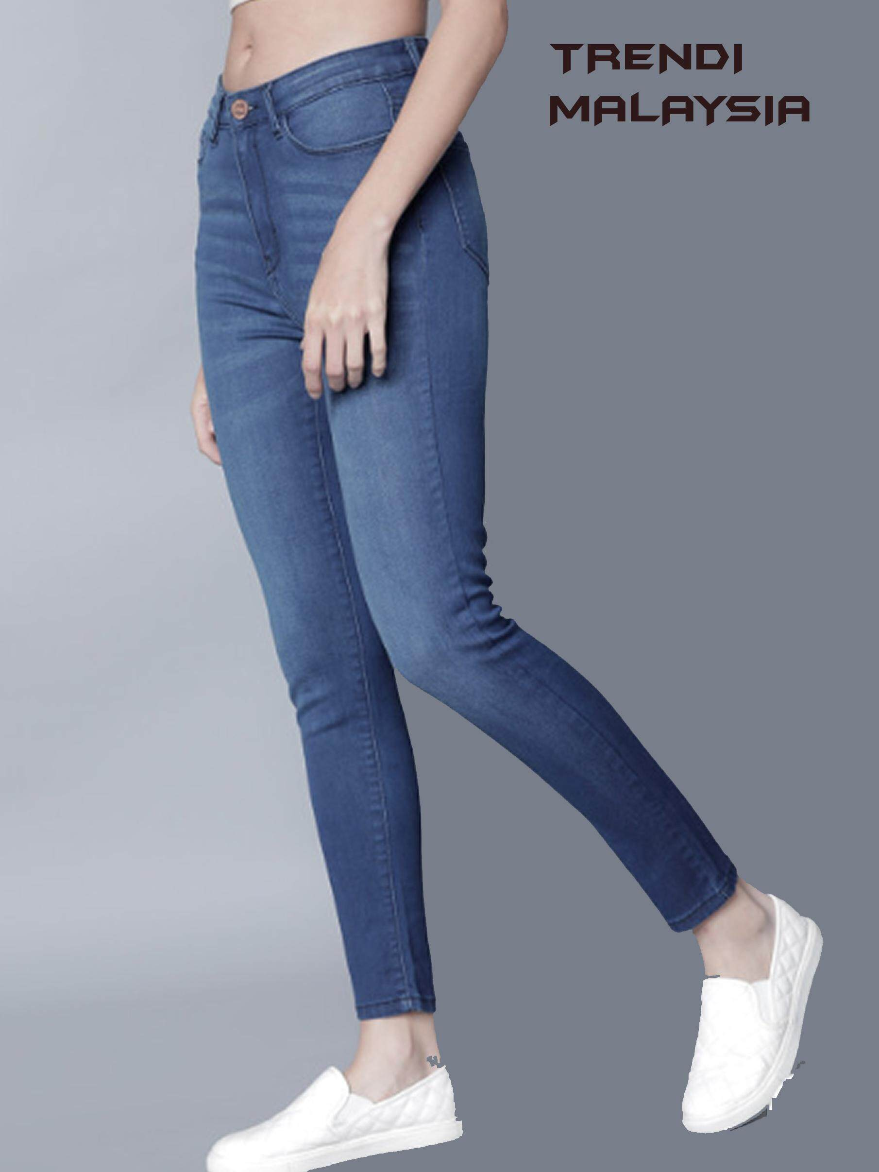 Women Blue Super Skinny Fit Mid-Rise Clean Look Jeans / Women Jeans in Malaysia