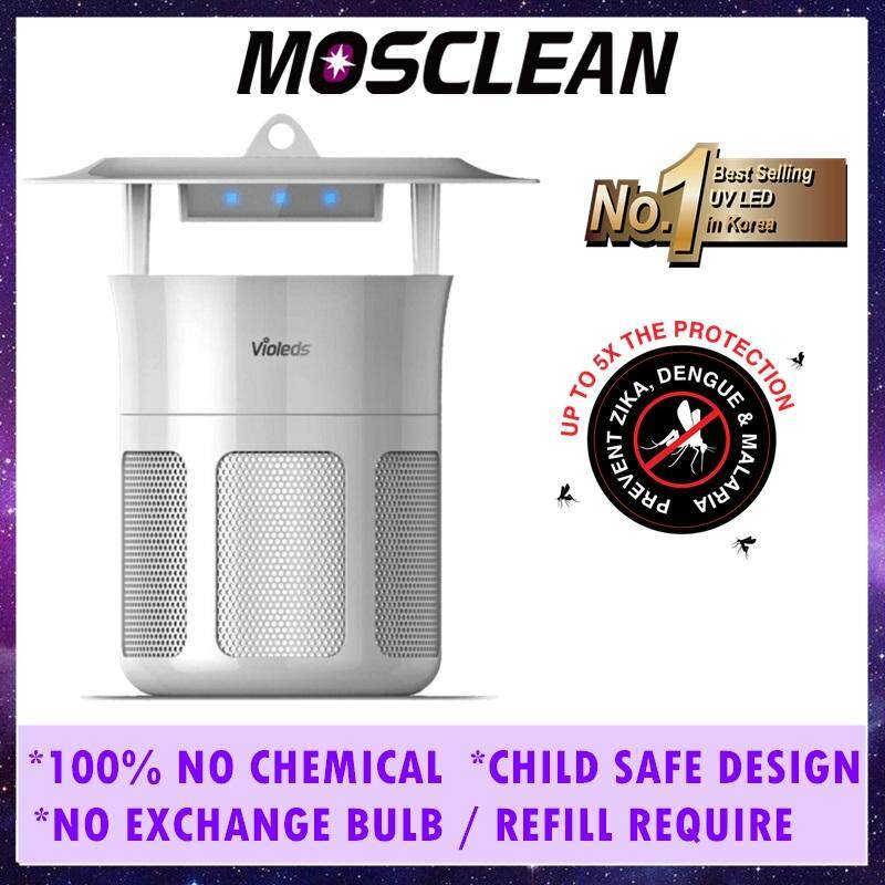 MOSCLEAN UV LED Mosquito Killer Insect Trap IS1 - Fruit Flies, House Flies  and Small Bugs Catcher (Zika Targeted) No Zapper Sound, No Spray, No
