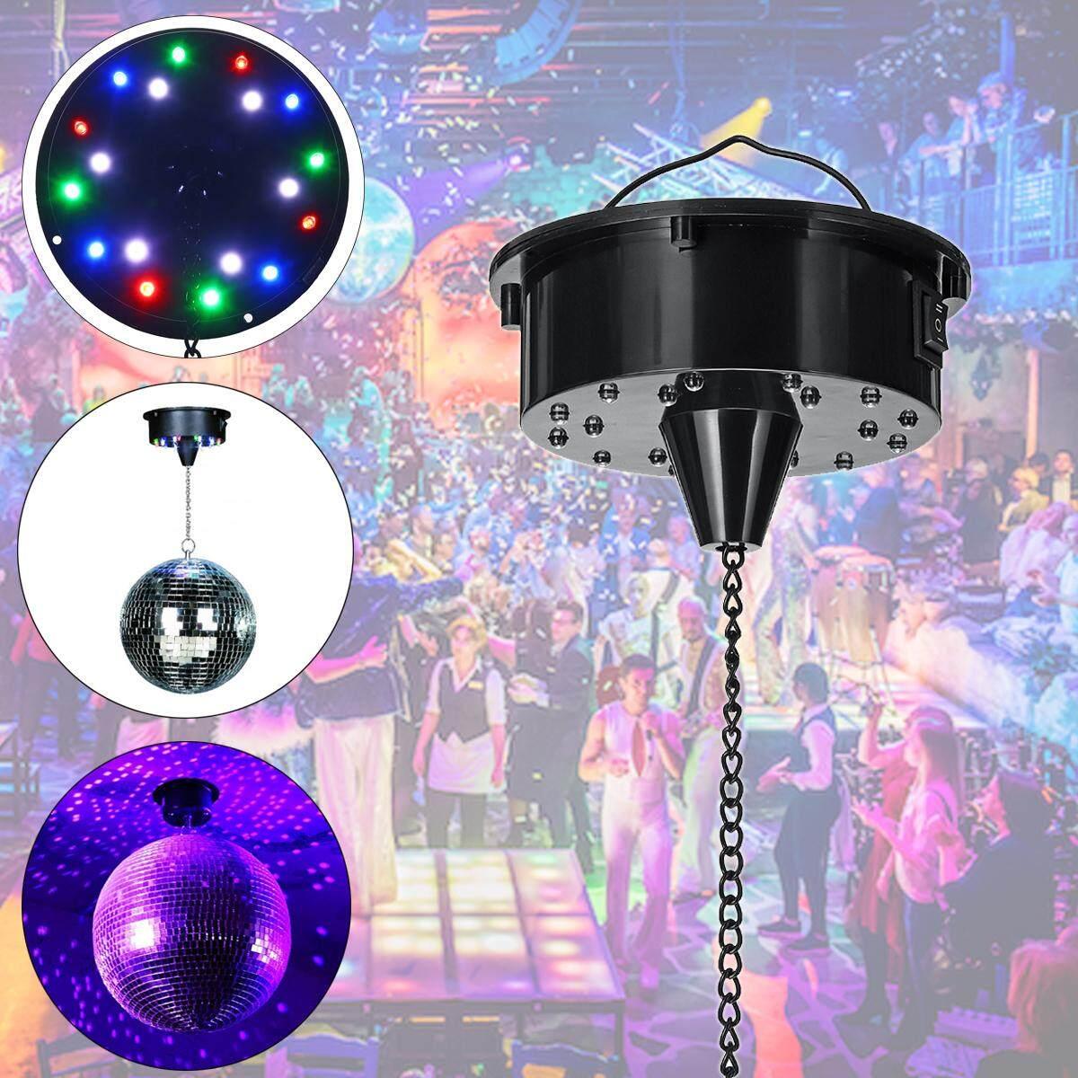 【การจัดส่ง + แฟลช Deal】18 Rgb ไฟ Led มอเตอร์หมุนสำหรับลูกบอลกระจกเวทีคาราโอเกะ Sound เปิดใช้งาน By Surmounter.