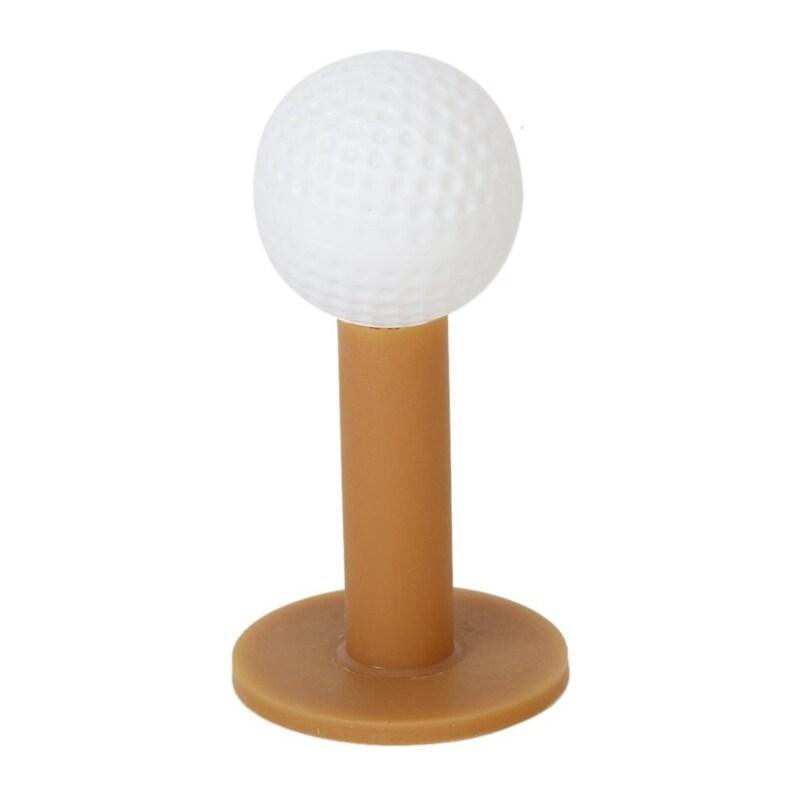 3 Piece Golf Tees Coffee Durable Tee Driving Range 60/ 70/ 80 mm