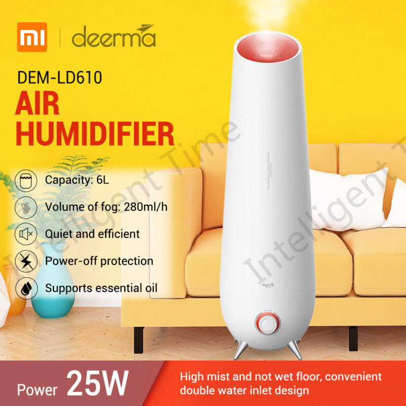Deerma DEM - LD610 6L Large Capacity Cool Mist Air Humidifier Household Aromatherapy Diffuser Singapore