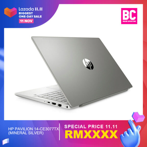 [ONLINE EXCLUSIVE] HP Pavilion 14-ce3073TX (Warm Gold)/14-ce3074TX (Tranquil Pink)/ 14-ce3077TX (Mineral Silver) Laptop - (14IN FHD/Intel i7-1065G7/8GB DDR4/512GB M.2 SSD/NVIDIA® MX250 2GB/Win 10/Preload H&S) + Free Premium Gifts Malaysia