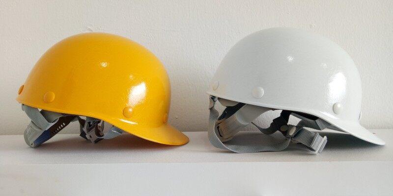 Tanizawa Safety Helmet - 104 Baseball White/Yellow
