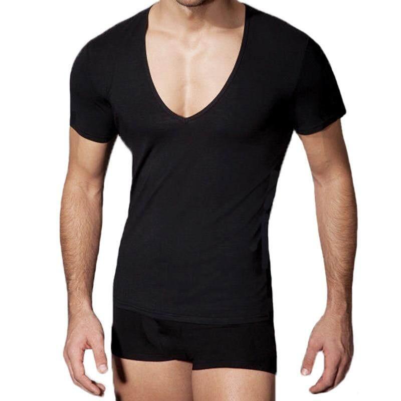 Men's Tops Tees Summer New Cotton V Neck T Shirt Men Fashion Trends Fitness Short Sleeve Plus Size T shirt | Lazada PH