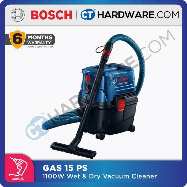 BOSCH GAS 15 PS Professional Wet & Dry Vacuum Cleaner ( Wet/Dry Extractor) [HEAVY DUTY] ( GAS15PS )