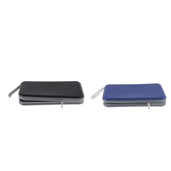 Gazechimp 2pcs 80 Disc CD Wallet DVD Case Storage Holder Bag Protector Blue/Black