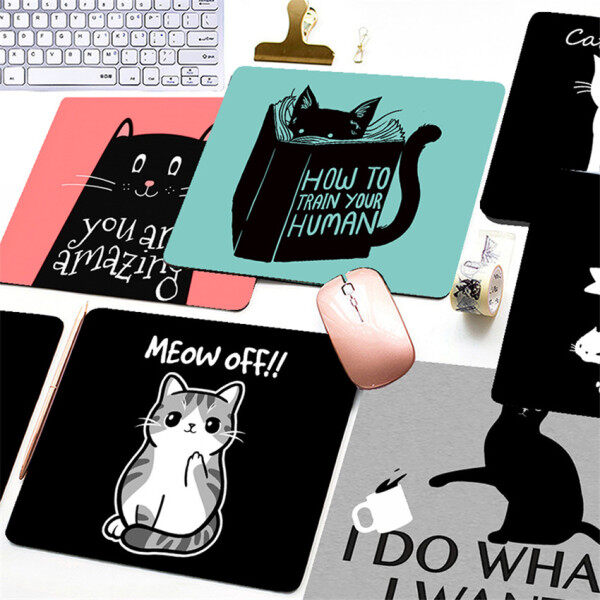Cute cat Printed Mouse Pad Game Office Home Multimedia Computer Keyboard Non-slip Mouse Pad Malaysia