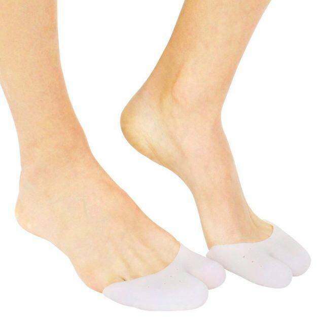 Silicone Toe Cap Protector by (2 Pairs)Silicone Toe Cover and Sleeve Big Toe Protection Silicone Bandage for Ball of Foot, Metatarsal, Ballet Pointe Cushion, Socks, and Sandals giá rẻ