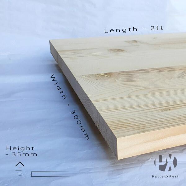 Pine Wood Board 35mm x 300mm x 605mm | Kayu Papan | Kayu Pine | Papan DIY | Papan Pine |