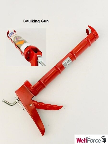 Wellforce Super Heavy Duty Solid Caulking Gun For Silicon Gun Usage.