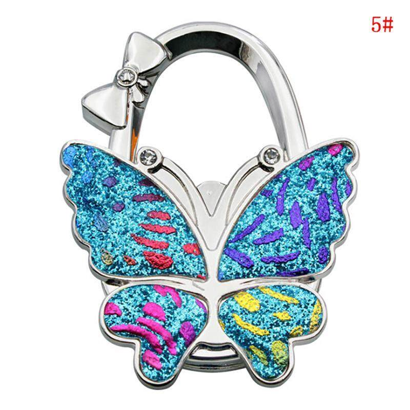 Blowing 1Pc Folding bag handbag tote table hanger hook holder butterfly pattern hook  A