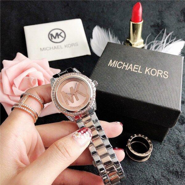 MICHAEL KORSˉ MKˉ Quartz Watch Women Casual Round Watches Diamond Steel Lady Wristwatch Malaysia