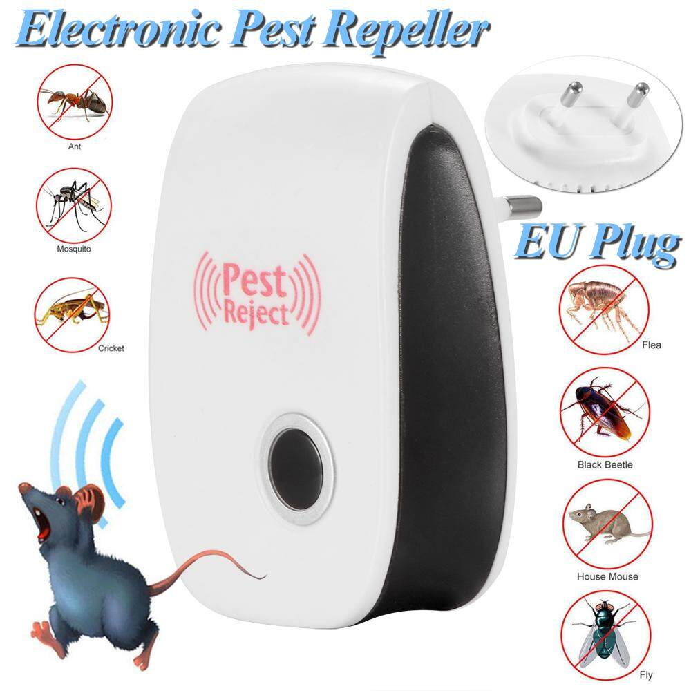 EU Plug Electronic Ultrasonic Bug Rat Roach Spiders Cockroach Pest Rejector Repellent Anti Mosquito Magnetic Repeller Household Insect Killer for Home