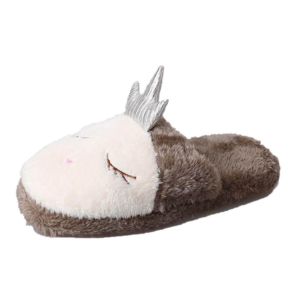 a11740c92 Hot sale Indoor House Slipper Soft Plush Cotton Cute Shoe Non-Slip Home  Furry Women