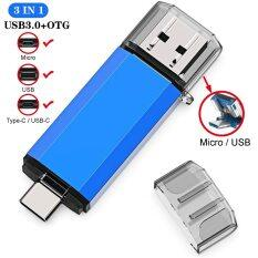 UBS 3.0 OTG USB Flash Drive 64GB Pen Drive 3 trong 1 loại C & Micro USB Stick 3.0 Flash Drive 16GB 32GB 128GB Pendrive 256GB 512GB