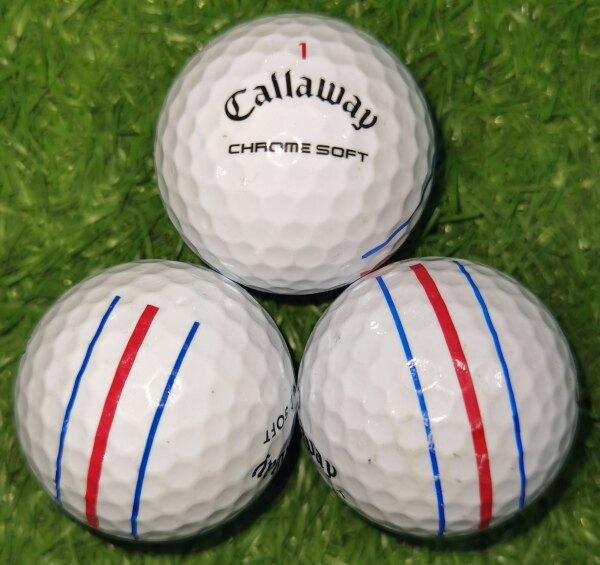 Callaway Golf Callaway Bóng Đá Nhỏ Bóng Ba Dòng Bóng Tiếp Theo Bóng Golf Bóng Tay Thứ Hai