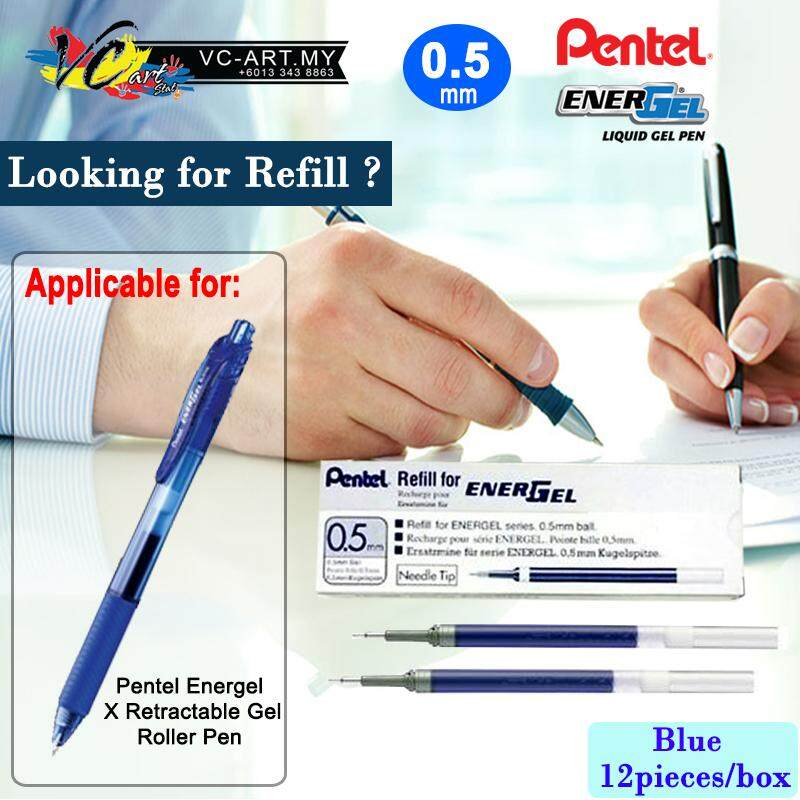 Pentel Energel Roller Pen Refill 0.5mm - Per Box Of 12 Pcs By Vc Art Stat.