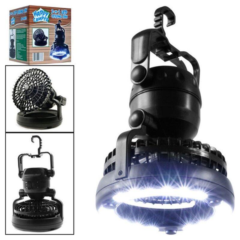 Cắm Trại Đèn Quạt Trần Xách Tay Treo Đèn Pin 18Led Fan Đèn Lồng Cắm Trại Pin Điện/Có Thể Sạc Qua USB Đèn Lều