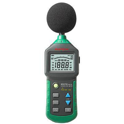 (1PCS)Mastech MS6700 Digital Sound Level Meter Auto Range 30dB to 130dB Industrial Grade Noise Meter DB Sound Meter