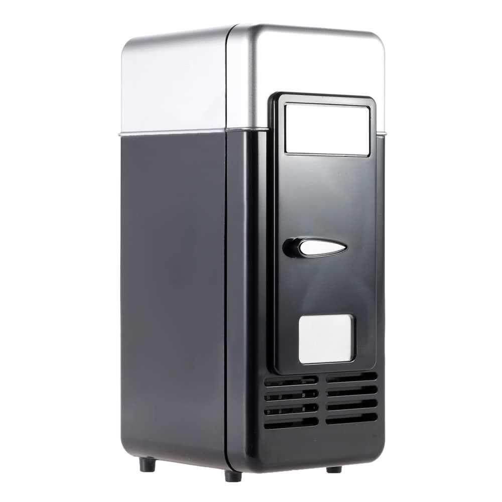 Mini USB Refrigerator Fridge Beverage Drink Cans Cooler Warmer Red Blue LED Light