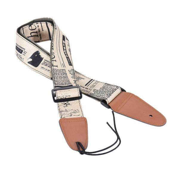 Comfortable Adjustable Guitar Shoulder Strap Synthetic Leather Ends for Acoustic Folk Classic Electric Guitars Bass Malaysia