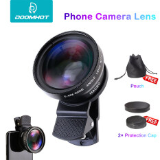 DoomHot Phone Camera Lens Smartphone Mobile Phone Lenses Cell Phone Lens Wide Angle Micro Camera 2 IN 1 Clip Lens Professional Universal Clip Phone Lens for iPhone Huawei Xiaomi Samsung Other Smartphones