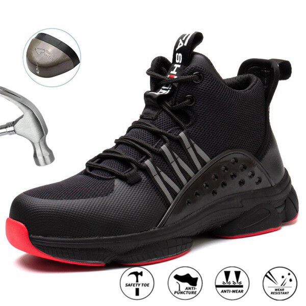 New Men Safety Shoes Breathable Sneaker Light Work Shoes Indestructible Steel Toe Safety Shoes Men