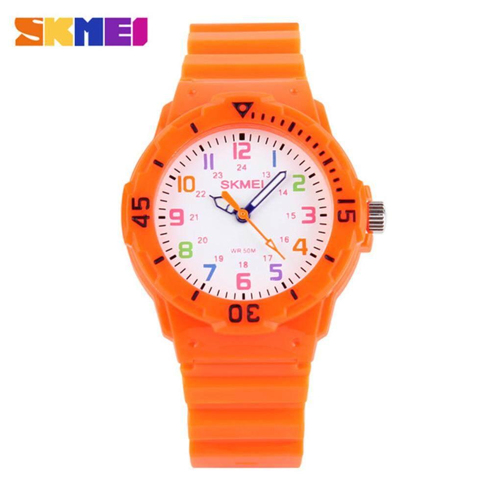 SKMEI Fashion Casual Children Watches 50M Waterproof Quartz Movement Wristwatches Jelly Kids Clock Hours Silicone Strap Boys Girls Students Watch 1043 Malaysia