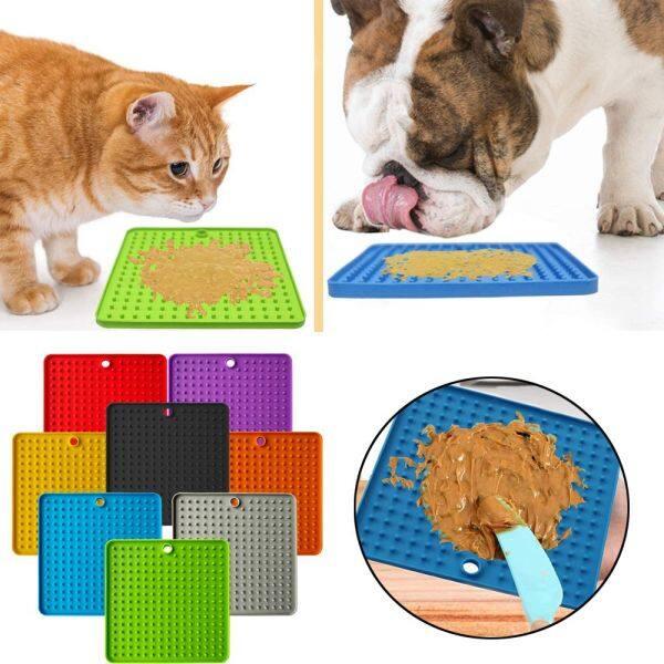 1 Cái Bát Cho Chó Ăn Chậm Bằng Silicon Thảm Phân Phối Đồ Ăn Cho Mèo Đệm Cho Chó Ăn Đồ Dùng Cho Thú Cưng Giảm Lo Âu