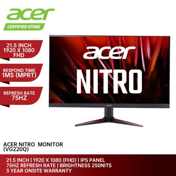 Acer Monitor PC VG220Q (21.5   1920 x 1080   IPS   75HZ   250NITS   1MS (MPRT)   HDMI x 2 & VGA   3Y WARRANTY) Malaysia