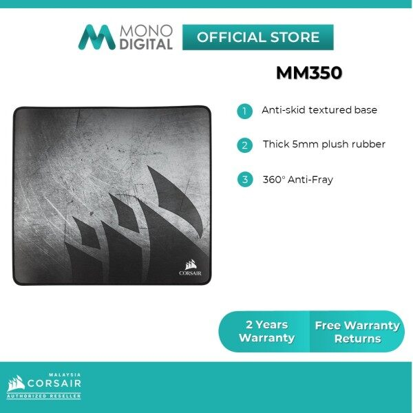 Corsair MM350 Premium Anti-Fray Cloth Gaming Mouse Pad (XL/XLExtended) Malaysia