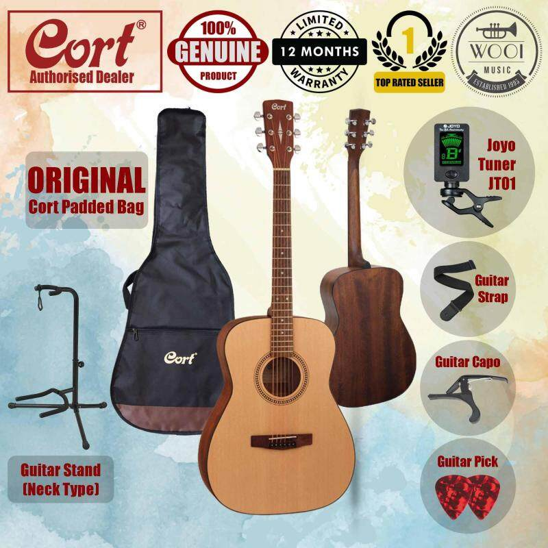 Cort AF-505 Acoustic Guitar 40 (FREE Guitar Bag, Joyo Tuner, Capo, Strap, Pick & Neck Type Frame Stand) Malaysia