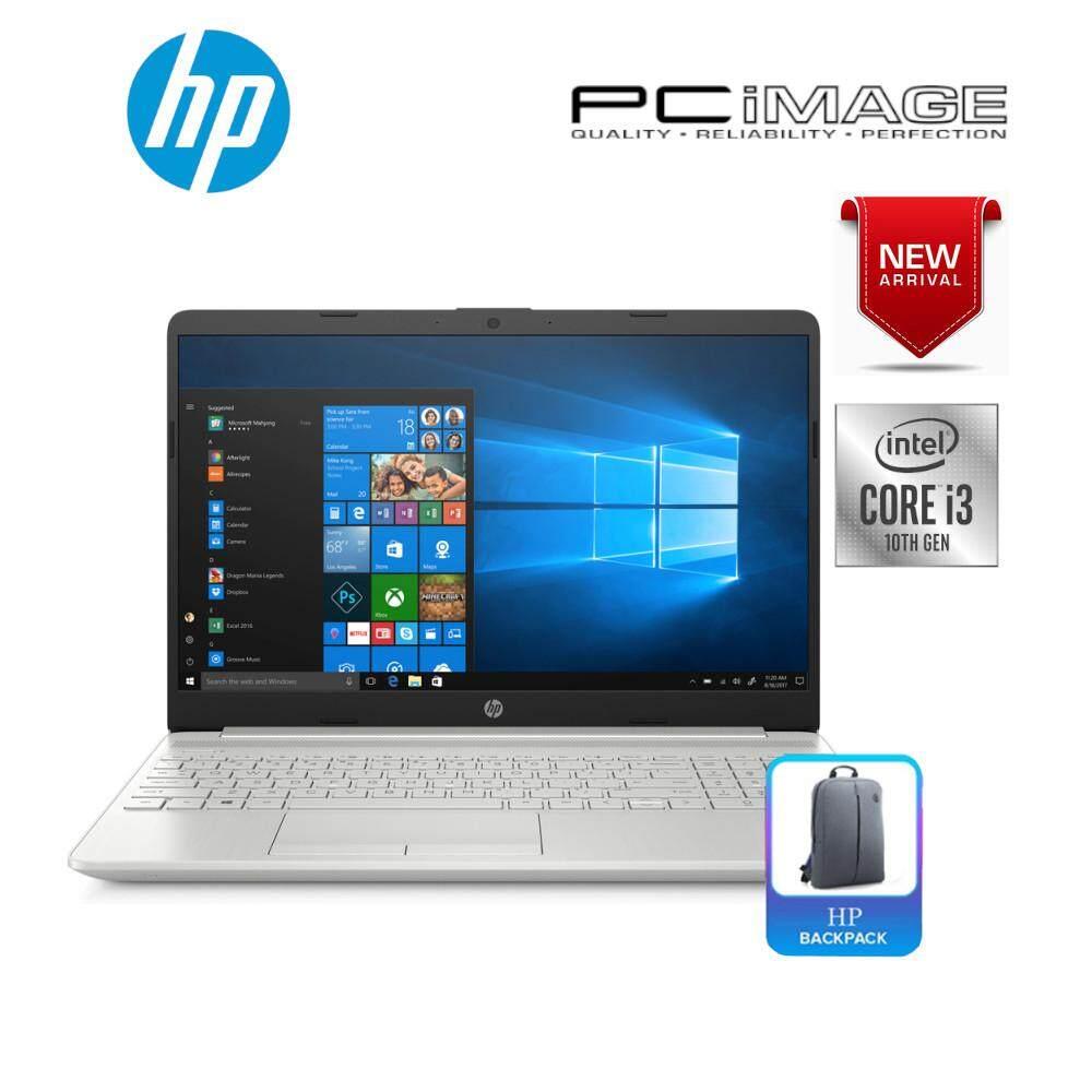 HP 15s-Du1002TU 15.6  Laptop Silver (I3-10110U, 4GB, 256GB, Intel, W10) Malaysia