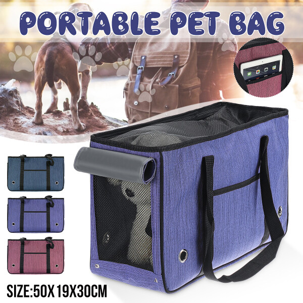 50x19x30cm Rose Red /Purple /Navy 7.5kg Bearing Breathable Pet Cats Dog Bag