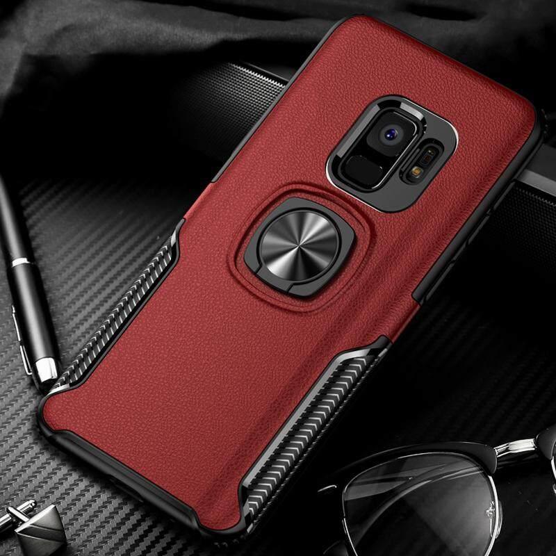 Toosci Update Perlindungan Ganda Armor Case dengan Mobil Mobil Pemegang Cincin Logam Penutup Belakang untuk Samsung