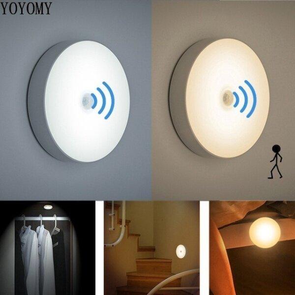 Đèn cảm biến chuyển động LED Đèn cảm biến cơ thể người không dây có thể sạc lại Đèn cảm biến Lampu / đèn cầu thang
