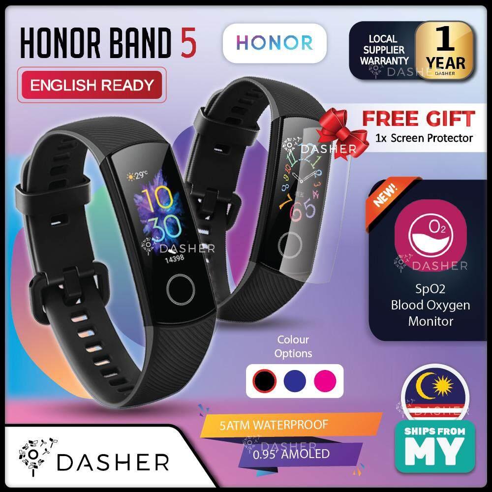 [LATEST] Honor Band 5 AMOLED Smart Wristband Oximeter Blood Oxygen SpO2  Heart Rate Tracker Swimming Fitness Tracker Smart Watch