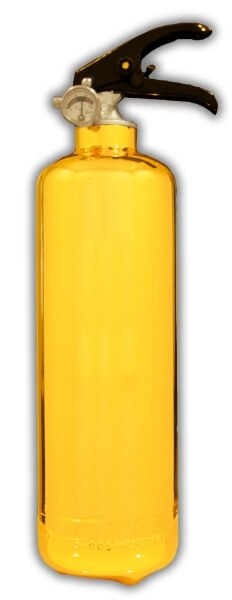 Osafe Fire CE certified 1kg Fire Extinguisher- Chrome Gold