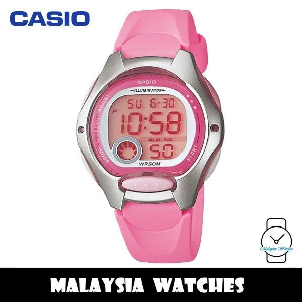 (100% Original) Casio LW-200-4B Standard Digital 10-Year Battery Pink Resin Kids Watch LW-200-4BV LW200 LW200-4B LW-200-4BVDF Malaysia