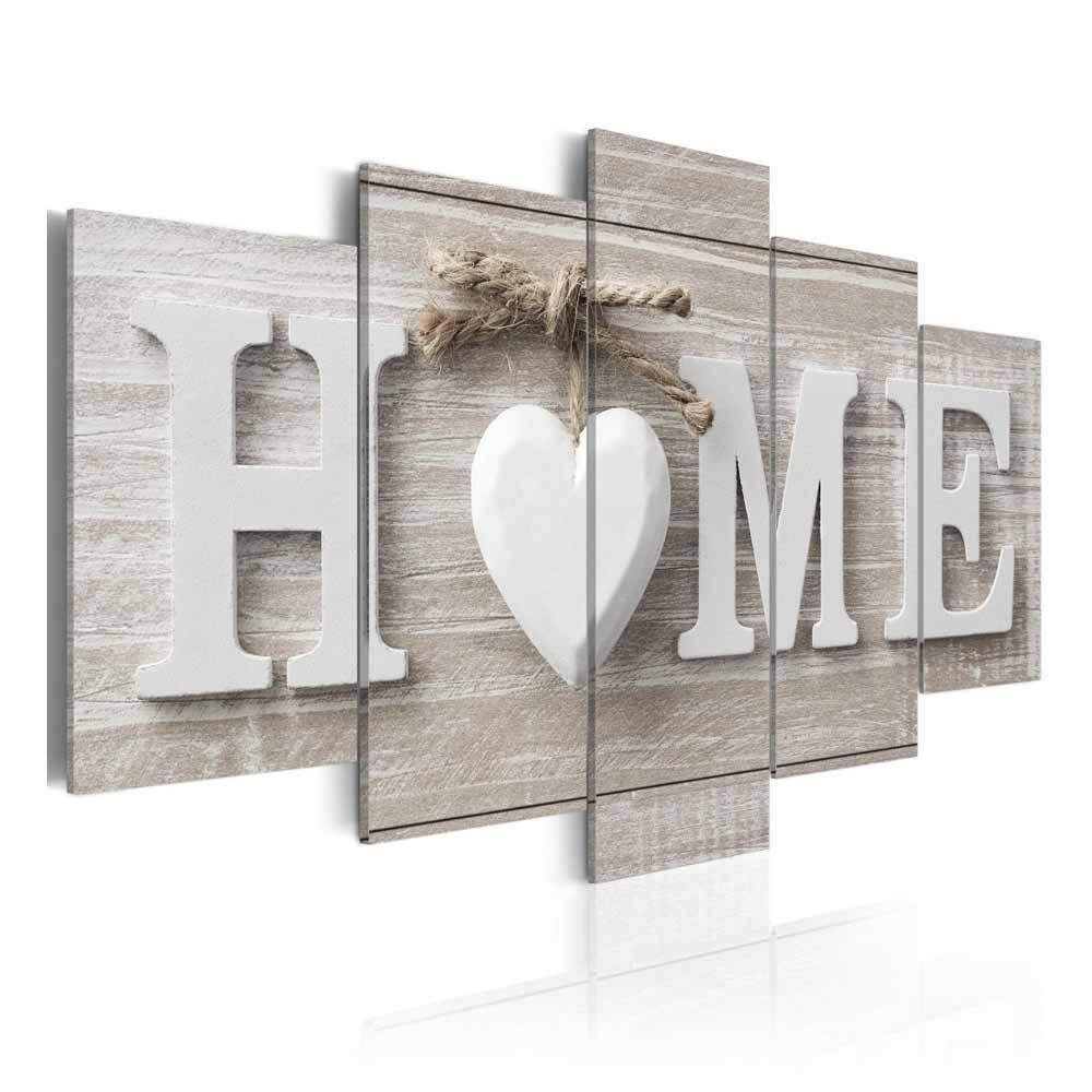leegoal Unframed Letter Canvas Painting Love HOME Wall Art Print Pictures for Home Living Room Bedroom Decoration Poster