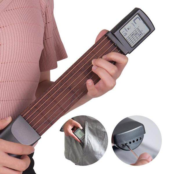 [Hot sale]6-String Pocket Guitar Chord Trainer Folk Guitar Practice Tool Gadget 6 Frets(Local delievery 2 days arrival) Malaysia