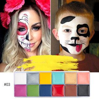 [Hàng Có Sẵn] Bộ Trang Điểm Nghệ Thuật Sơn Dầu Vẽ Mặt Cơ Thể 12 Màu Halloween Party thumbnail