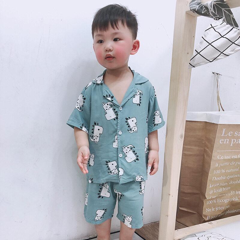 Nơi bán Phong Cách Hàn Quốc Cho Trẻ Em Ngắn Tay Mềm Cotton Pijama Lụa