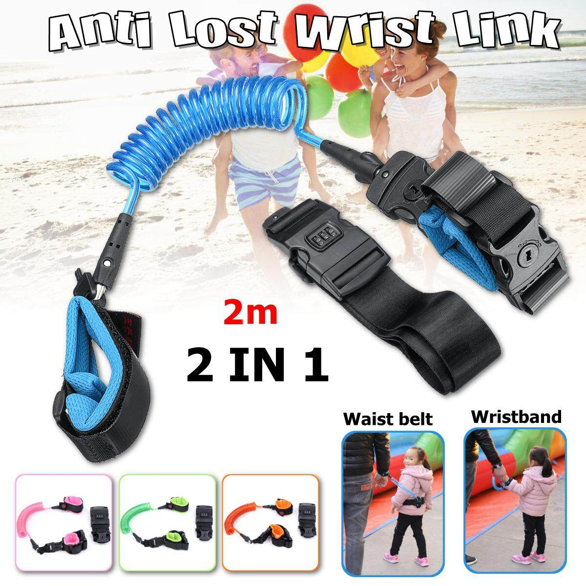 Pink/&Green Children Anti-lost 1.5m Rope Safety Toddler Harness Reflective Belt Child Restraint Leash Kids Anti-lost Wrist Link Baby Traction With Lock /& Key For Travel Outdoor