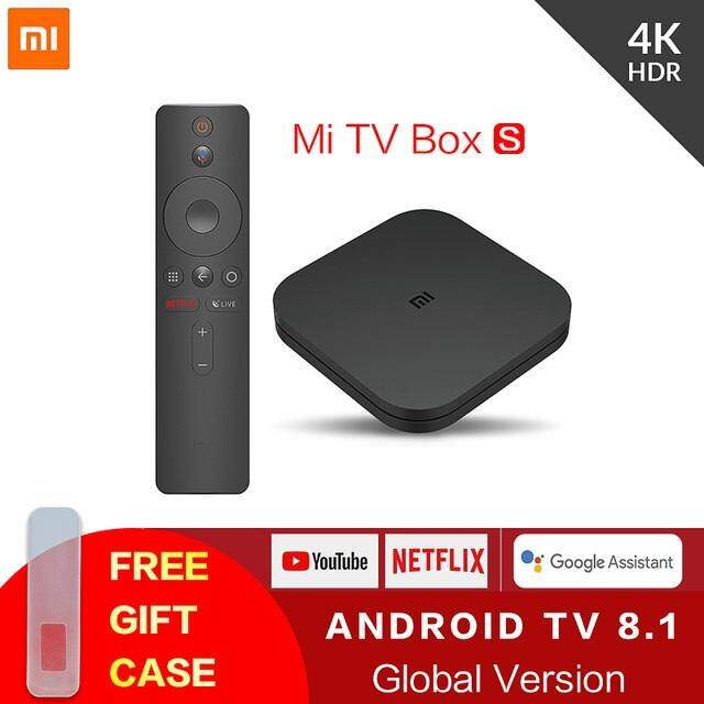 [Global Version] Xiaomi Mi TV BOX S Smart 4K Ultra HD 2G 8G Netflix Media  Player IPTV Set top M19E(MDZ-22-AB)