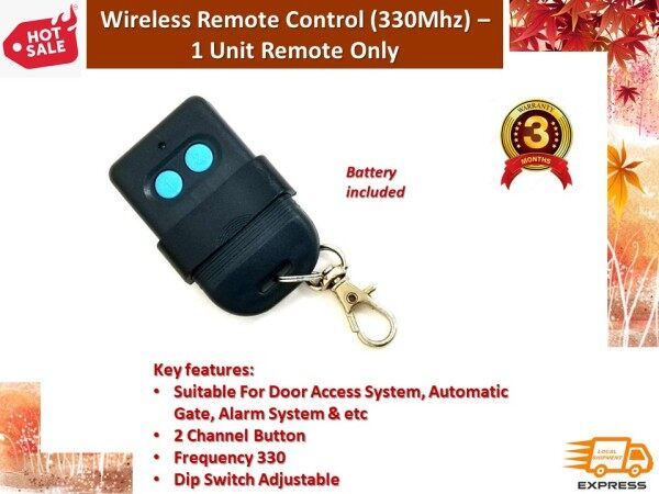 Autogate Door Wireless Remote Control 330Mhz DIP Switch Auto Gate Controller (Battery included)