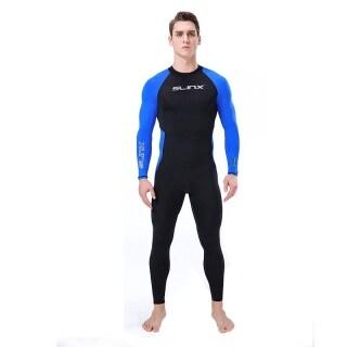 QTEL Dài Tay Cho Nam Đồ Bơi Chống Tia Cực Tím Toàn Thân Rushguard Scuba Snorkeling Áo Quần Lặn Cao Elasitc Lycra Đồ Bơi Lướt Sóng Áo Tắm thumbnail