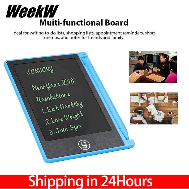 WeekW LCD 4.5inch Handwriting Writing Tablet Drawing Board for Children/Kids Memo List Reminder Note