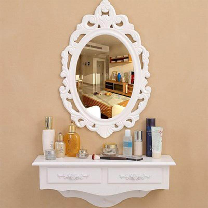 Dressing Table with Mirror Wall Mounted for Limited Space by Olive Al Home